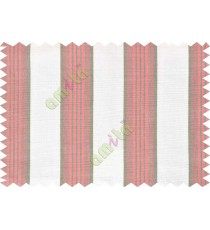 White brick red green stripes main cotton curtain designs